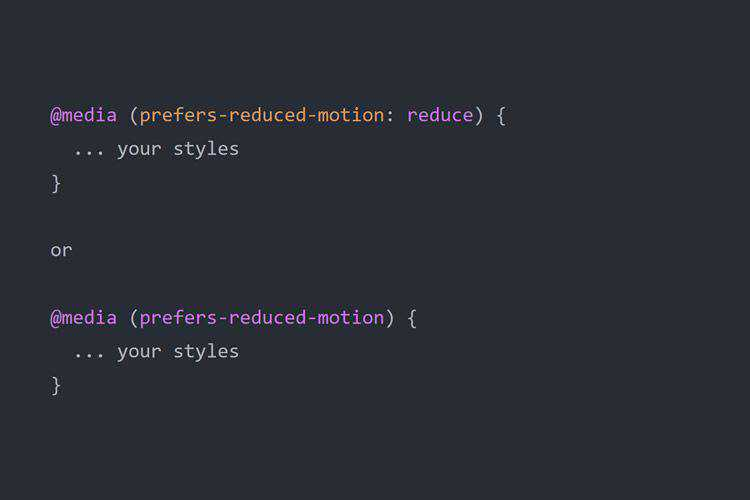 Reducing Motion in Animations