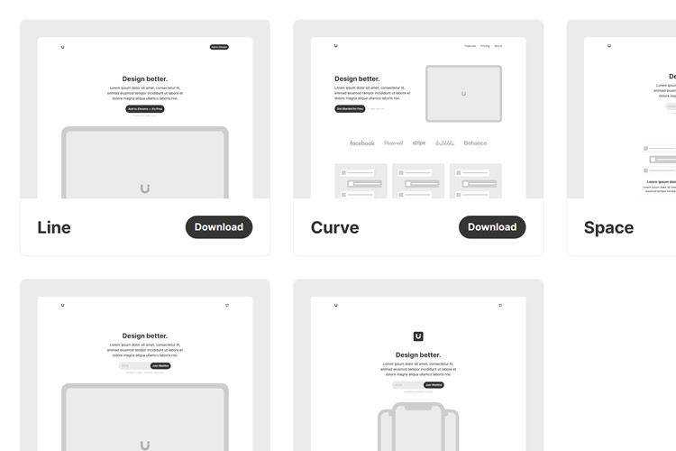 Uisual landing page templates