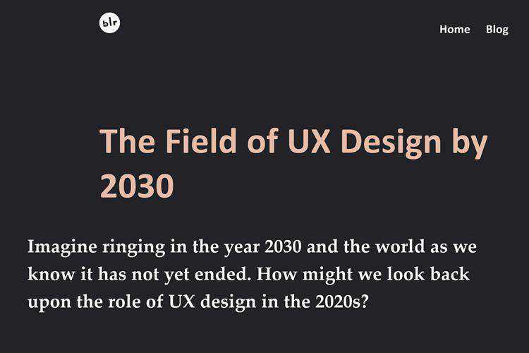 The Field of UX Design by 2030