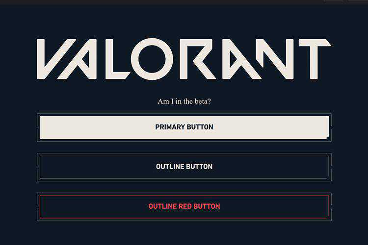 Valorant CSS Buttons