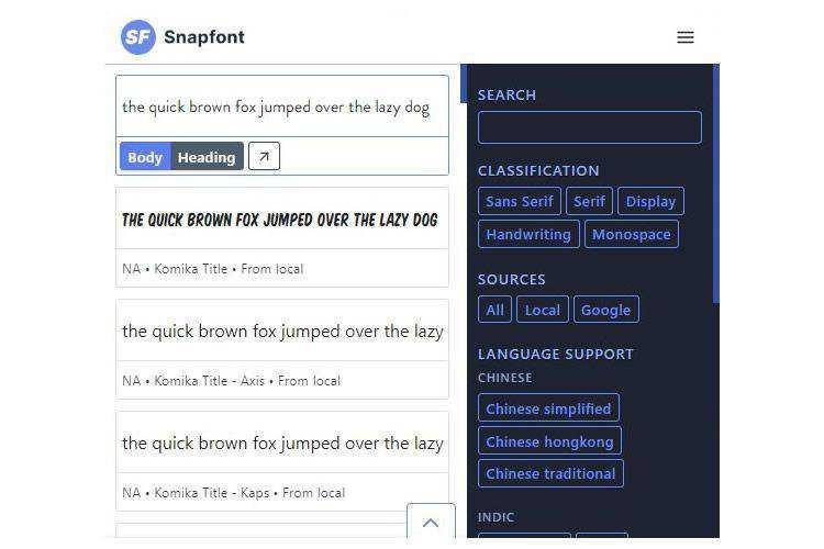 Snapfont Chrome Extension