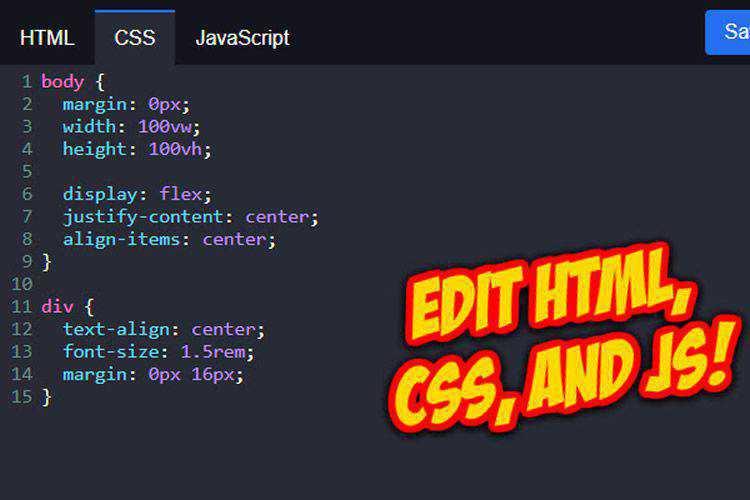 HTML New Tab