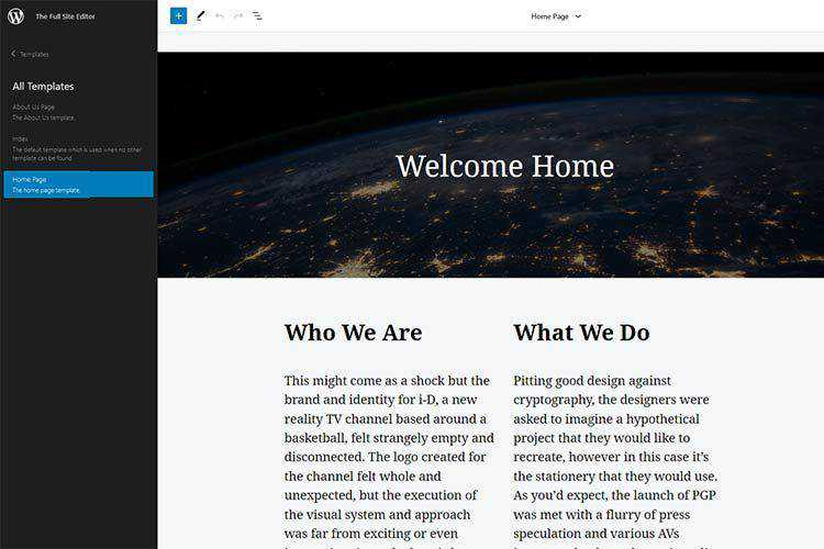 An Early Look at Full Site Editing in WordPress