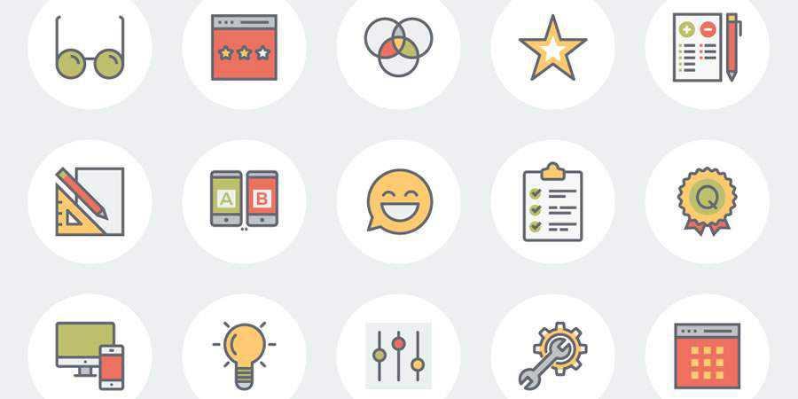 Flat Line UX eCommerce Icon Sets