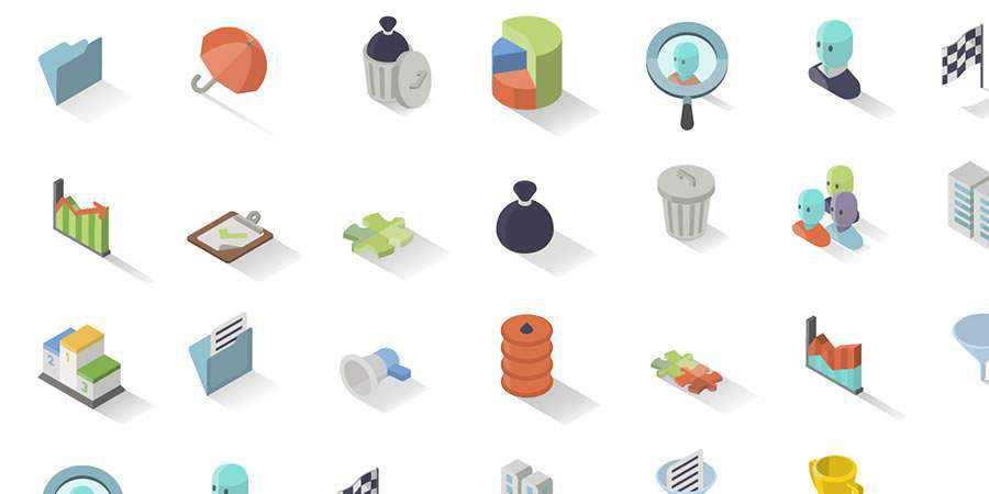 30 Isometric Icons
