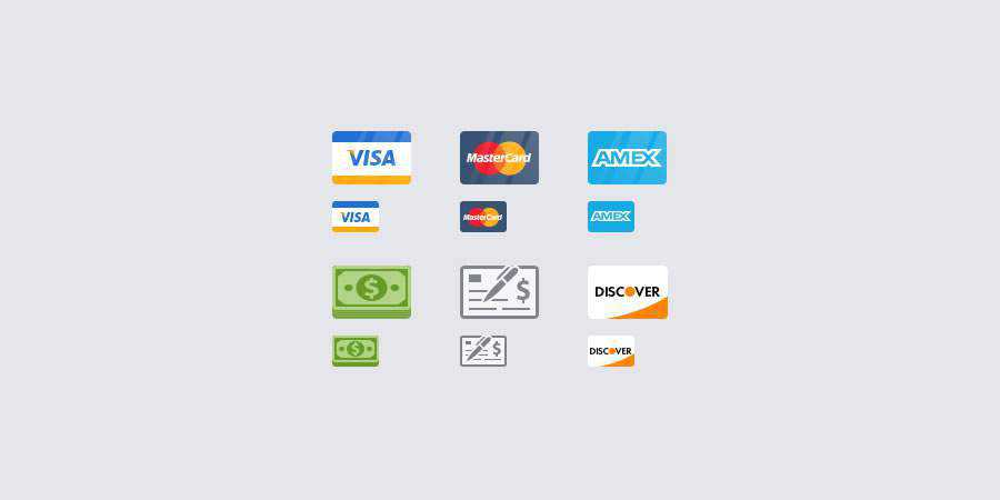 Flat Payment Icons Photoshop PSD freebies for designers