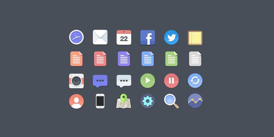 free Flat Icon Set