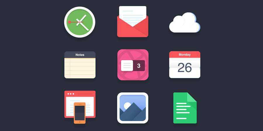 Flat Icons Pt.1