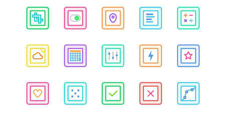 Flat Gallericons 30 Free Rounded & Colorful Icons