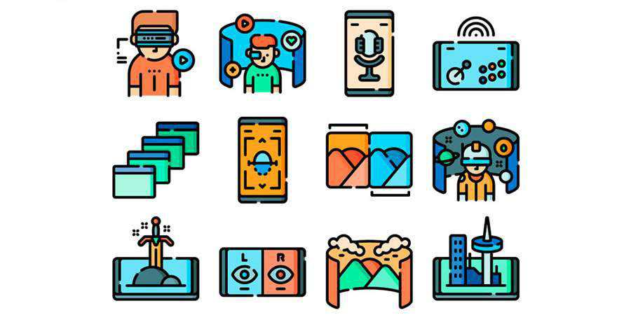 Flat 50 Free Virtual Reality Icons iPNG SVG Formats