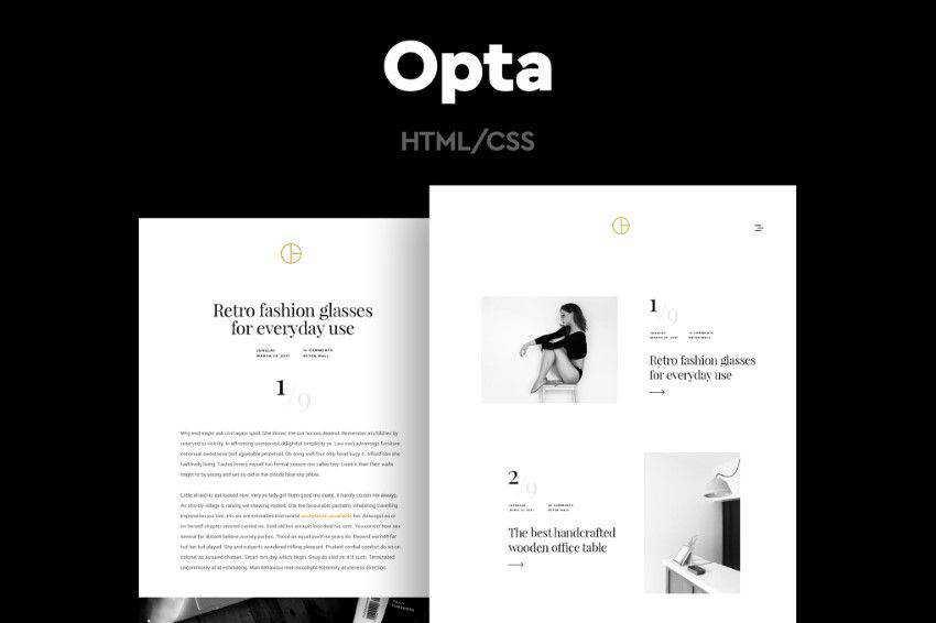 modern minimal design web site inspiration example Opta