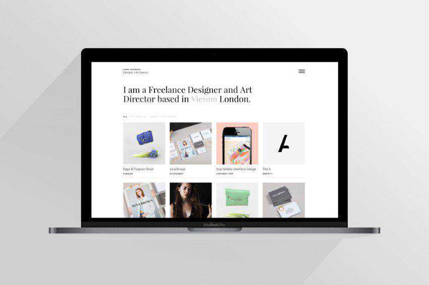 modern minimal design web site inspiration example Jane
