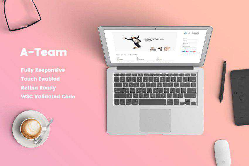 modern minimal design web site inspiration example A-Team