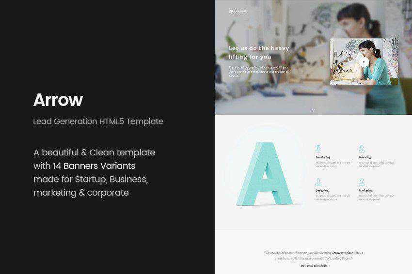 modern minimal design web site inspiration example Arrow