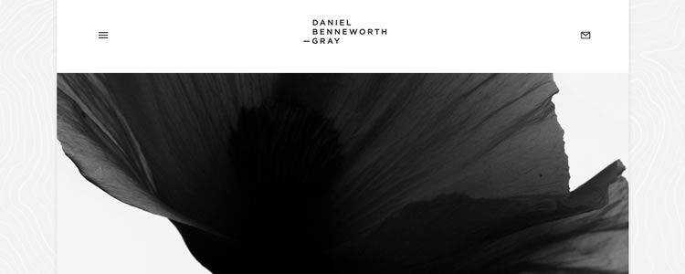 inspiration Daniel Benneworth-Gray example modern minimalist web design