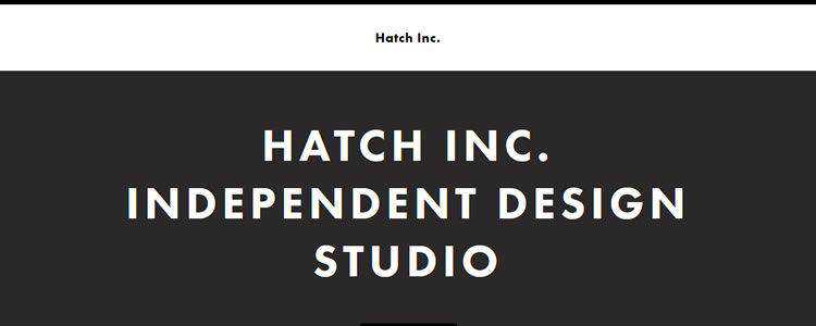 homepage of Hatch Inc inspirational example of modern minimalism in web design