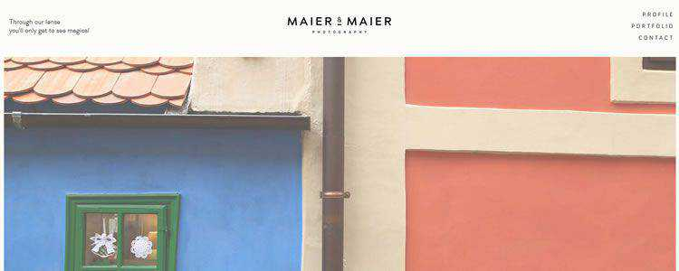 inspiration Maier & Maier Photography example modern minimalist web design