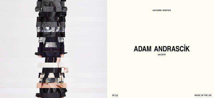 Adam Andrascik modern minimal design web site inspiration example