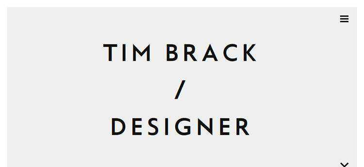 Tim Brack modern minimal web design site inspiration example