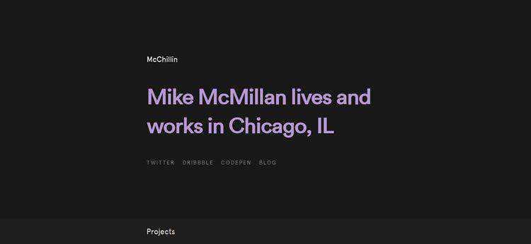 McChillin modern minimal design web site inspiration example