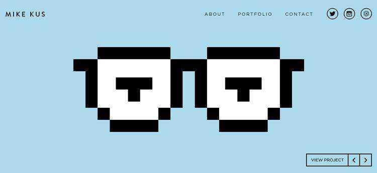 Mike Kus modern minimal web design site inspiration example