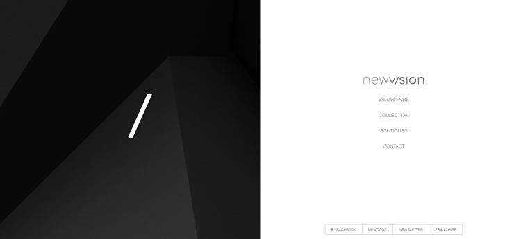 NewVision modern clean web design site inspiration example