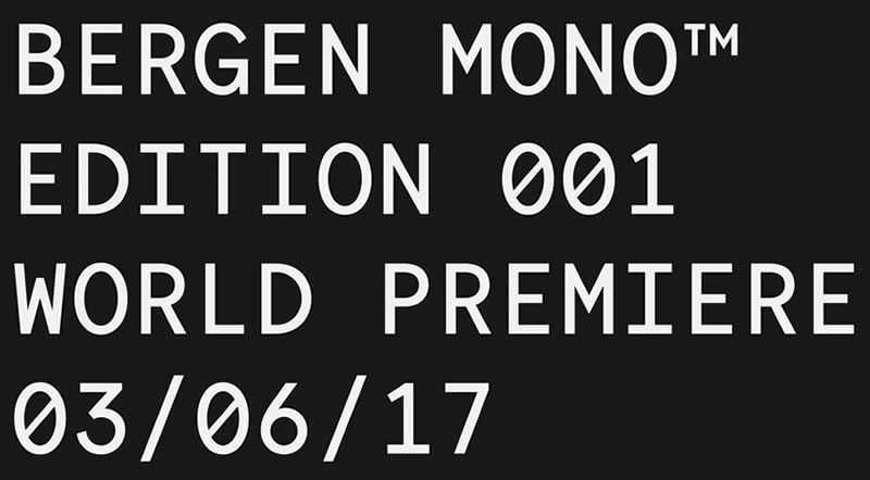 Bergen Mono programming code fonts