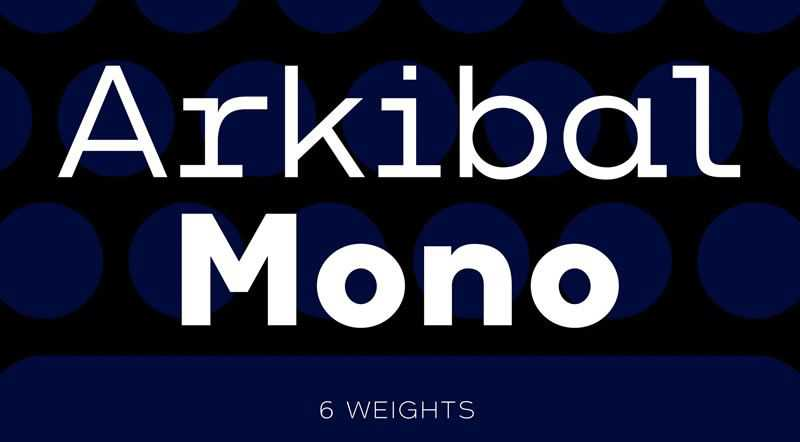 Arkibal Mono programming code fonts