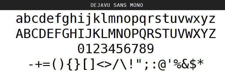 DejaVu Regular Oblique Bold free programming code fonts