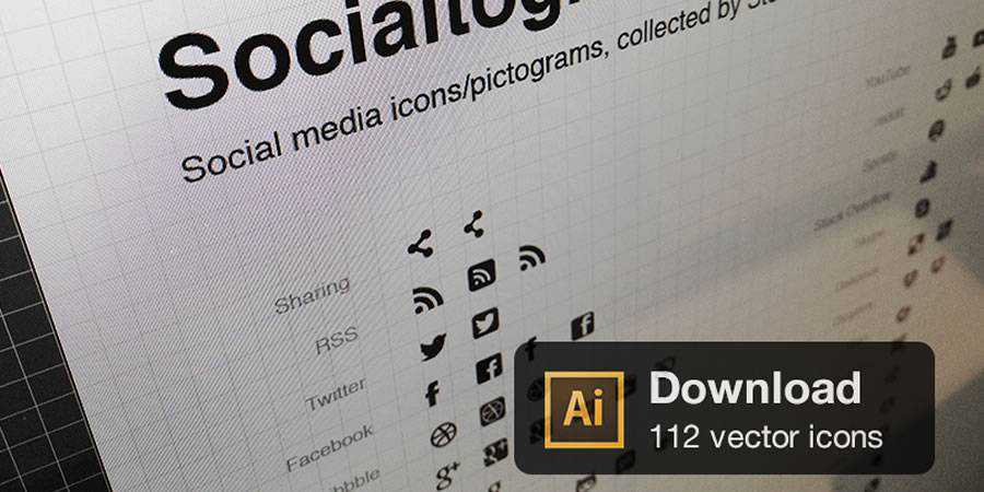Socialtograms glyph pictogram social free icons media