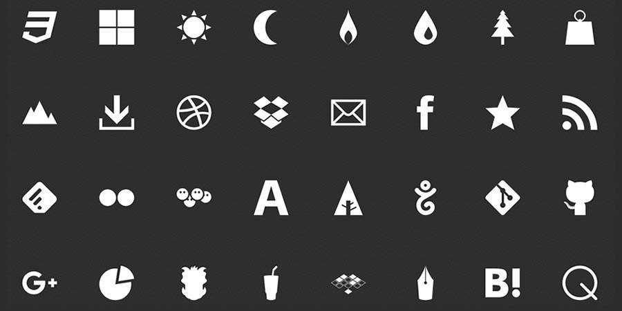 drawic glyph pictogram social media icon sets