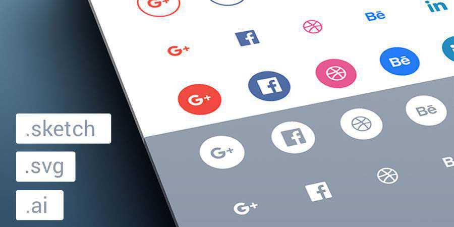 Social Flat Icon Set