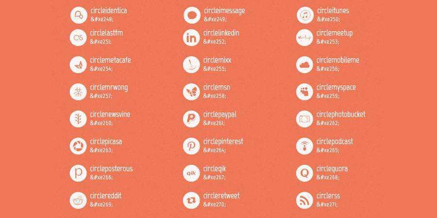 Mono webfont social free icons media