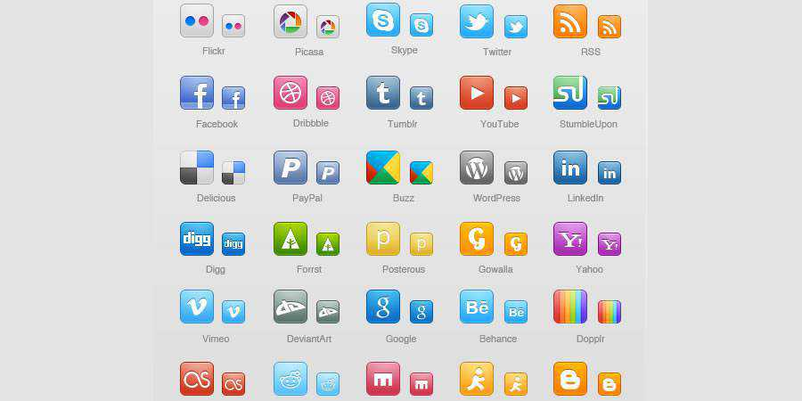 WPZOOM Social Media Icon Set