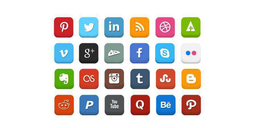 social free icons media