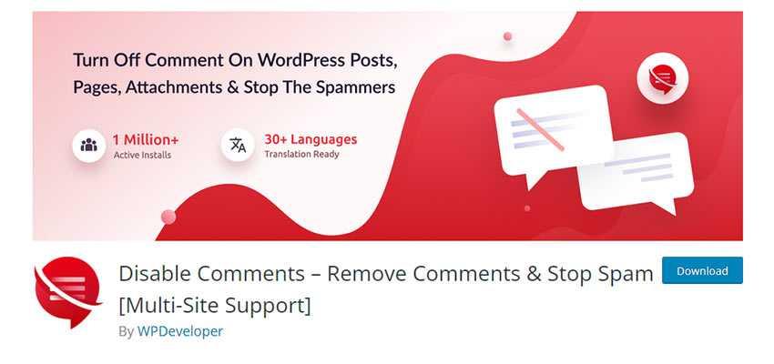 Disable Comments – Remove Comments & Stop Spam