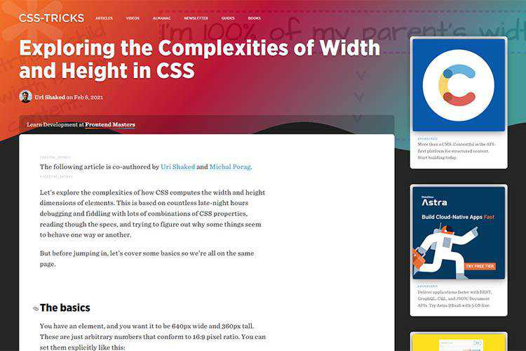 Example from Exploring the Complexities of Width and Height in CSS