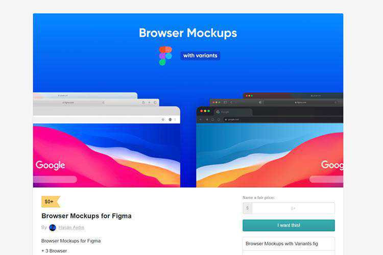 Example from Browser Mockups