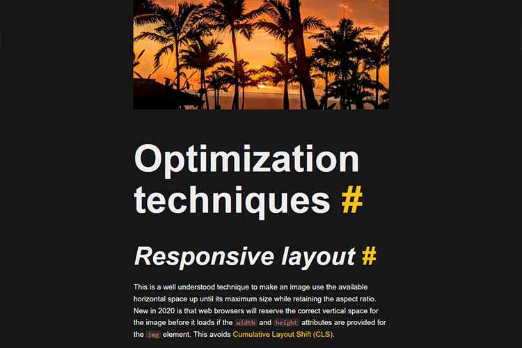 Example from Maximally optimizing image loading for the web in 2021