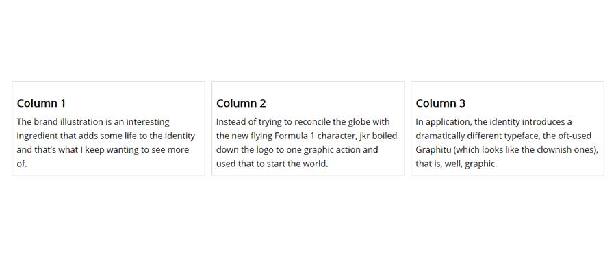 A 3-column CSS layout.