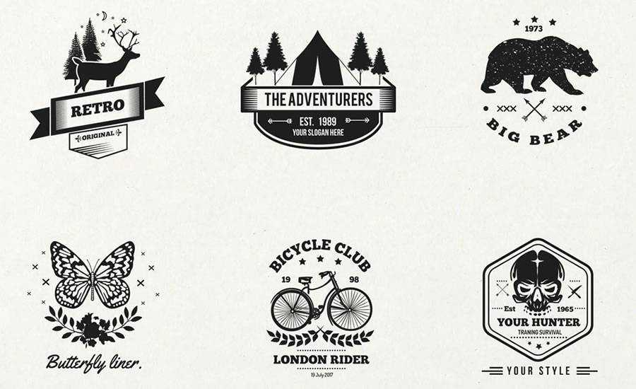 Vintage Logo Templates AI EPS SVG Formats