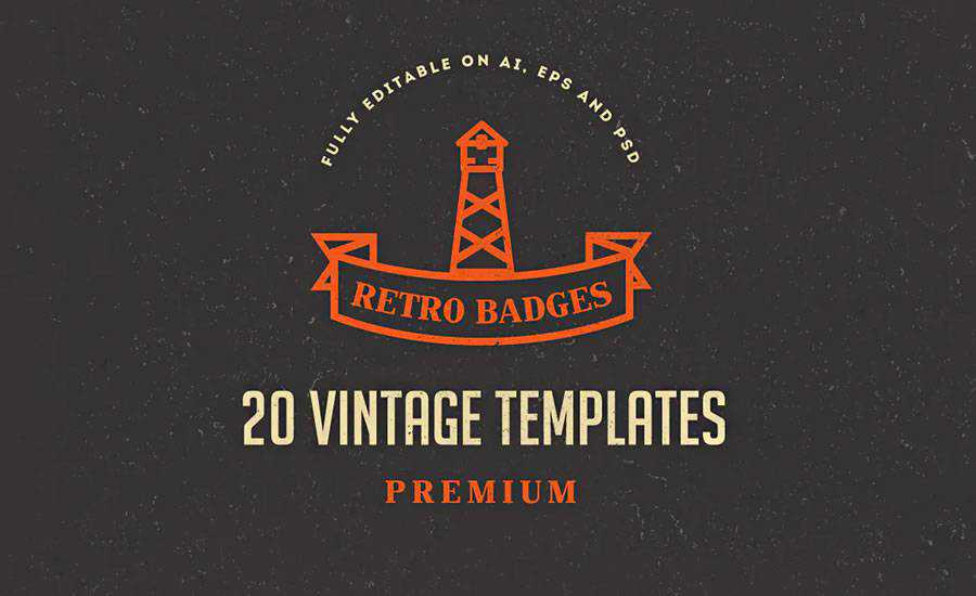 Vintage Logos Badges AI EPS PSD Formats