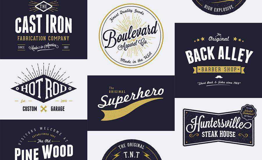 Free Customizable Vintage Style Logo Designs AI EPS Formats