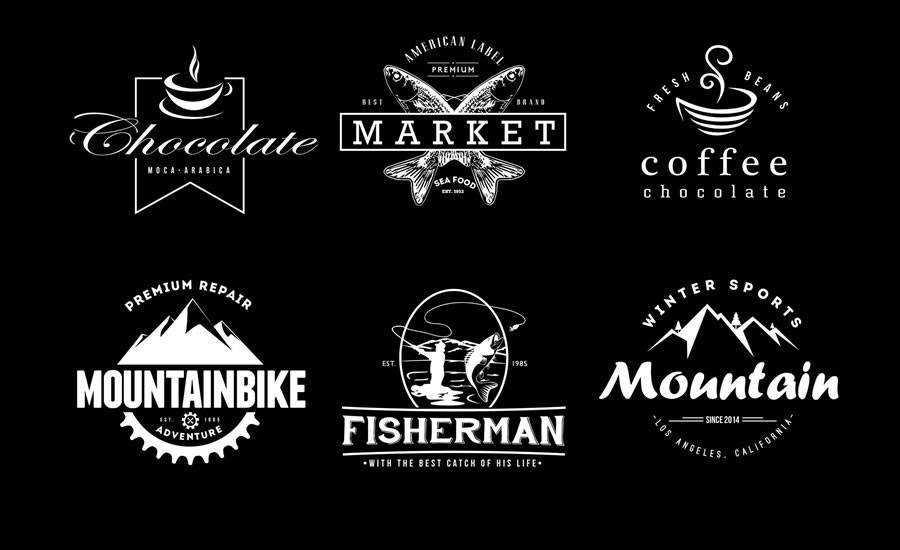 6 Free Vintage Logo Badges AI PSD Formats