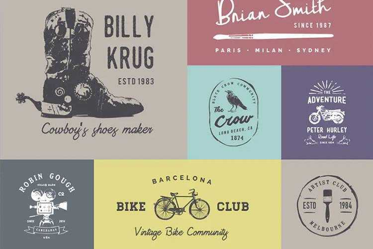 10 Free Vintage Logo & Badge Template Collections