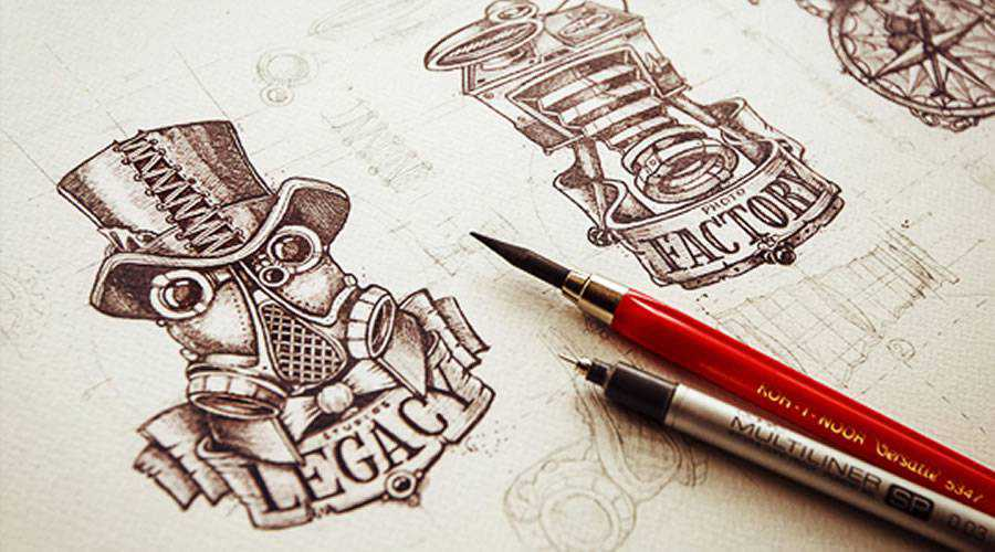 Logotype Sketch Collection paper pencil pen inspiration