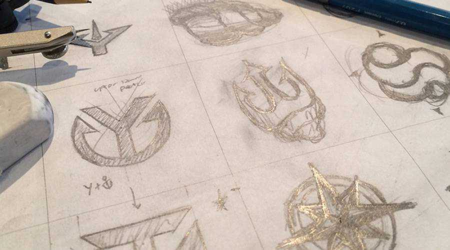 design Logo Thumbnail Sketches paper pencil pen inspiration