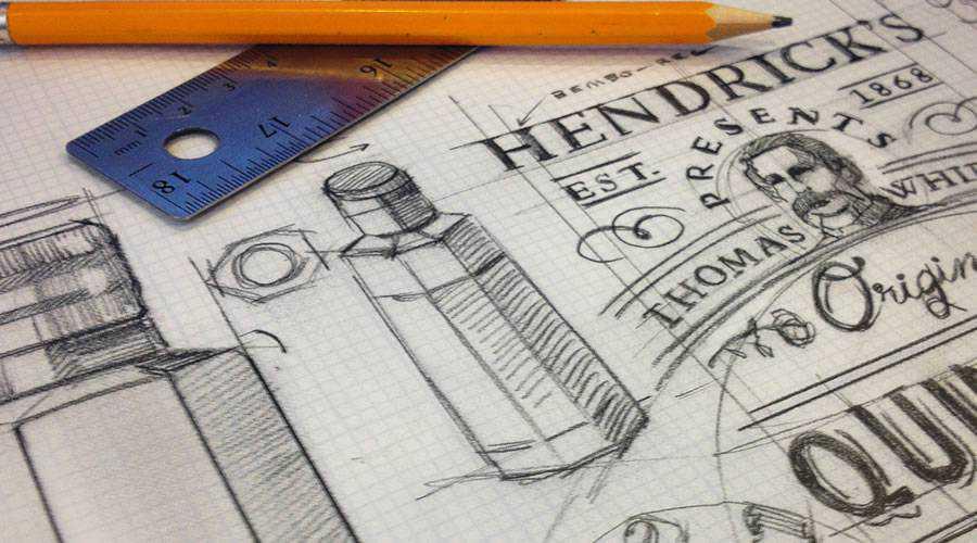 Hendrick Quinetum logo design sketch paper pencil pen inspiration