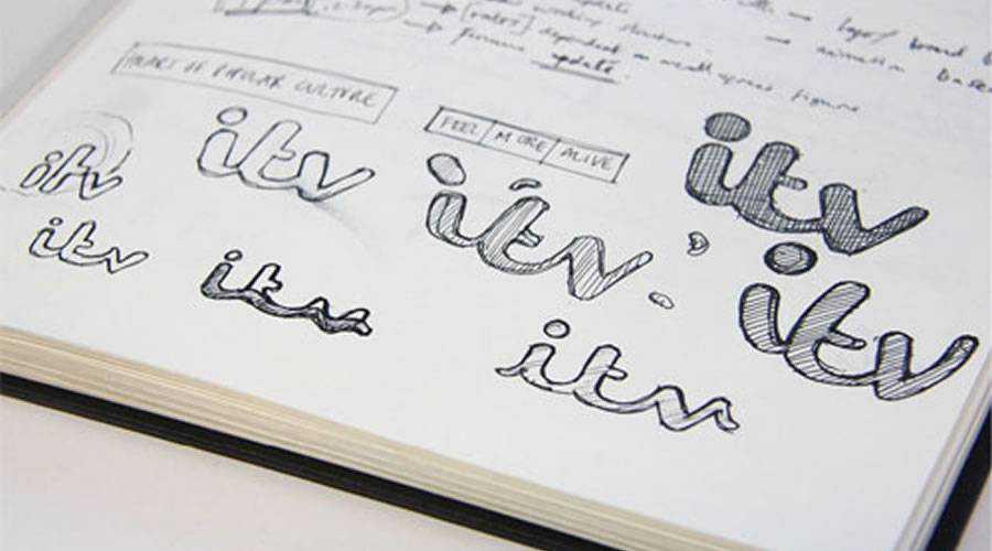 ITV Logo Creation design sketch paper pencil pen inspiration