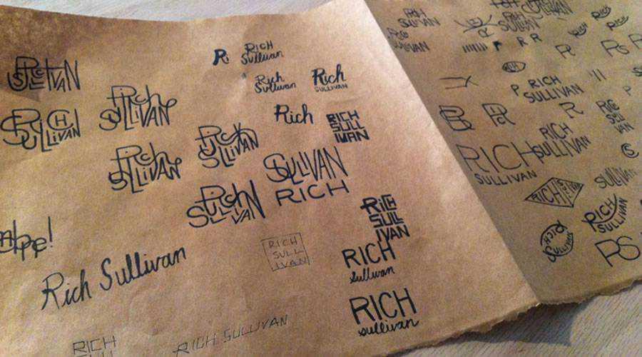 Rich Sullivan logo design sketch paper pencil pen inspiration